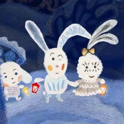 Снежные зайчики