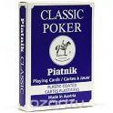 """Карты игральные Piatnik """"Classic Poker"""", цвет: синий, 55 карт"""