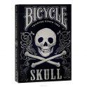 """Карты игральные коллекционные Bicycle """"Skull"""", цвет: черный, белый, 54 карты. 9123"""