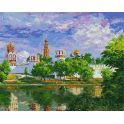 """Живопись на холсте """"Новодевичий монастырь"""", 40 х 50 см"""