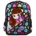 """Рюкзак подростковый Kinderline """"Littlest Pet Shop"""", цвет: черный, розовый. LPCB-RT2-786"""