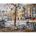 """Живопись на холсте """"Осенний Амстердам"""", 40 х 50 см"""