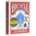 """Карты игральные Bicycle """"Jumbo"""", 54 карты. К-462"""