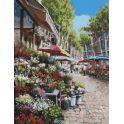 """Набор для рисования по номерам Цветной """"Цветочный рынок"""", 40 х 50 см"""