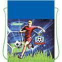Пифагор Сумка для детской обуви Футбол цвет синий зеленый