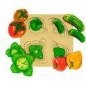 Анданте Развивающая доска Больше-меньше Овощи