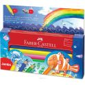 Faber-Castell Набор цветных карандашей Jumbo в пенале с раскрасками и точилкой 9 шт
