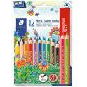 Staedtler Набор цветных карандашей Noris Club Super Jumbo 12 цветов с точилкой