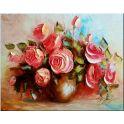 """Набор для рисования по номерам Цветной """"Розы мастихином"""", 40 х 50 см"""