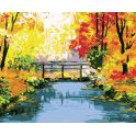 "Картина по номерам Школа талантов ""Осенний мост"", 1675800, 30 х 40 см"