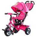 """BARBIE HB7PS Велосипед-коляска Barbie, колеса 10""""и 8"""",с руч.управ., наклонная спинка , розовый"""