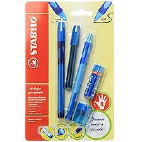 """Набор """"Stabilo Leftright"""" для правшей, цвет: голубой, 5 предметов"""