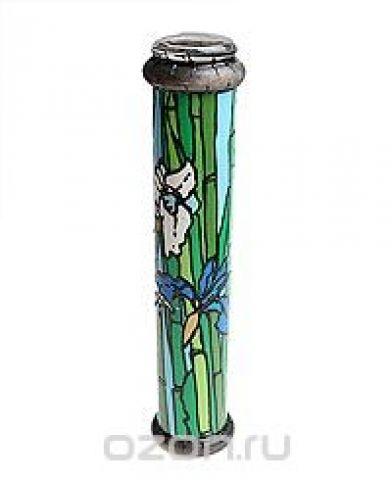 """Калейдоскоп """"Ирисы и бамбук"""". Цветная печать, фактурный рисунок, лак, зеркала, стекло, акрил, дерево. Ручная авторская работа"""