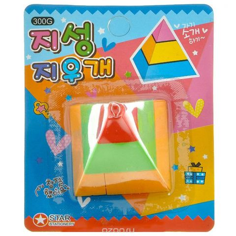 "Ластик ""Геометрия. Пирамида"". 002363"