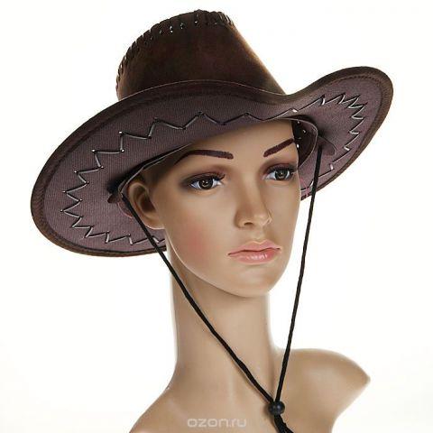 """Маскарадная шляпа """"Ковбой"""", цвет: коричневый. 31335"""