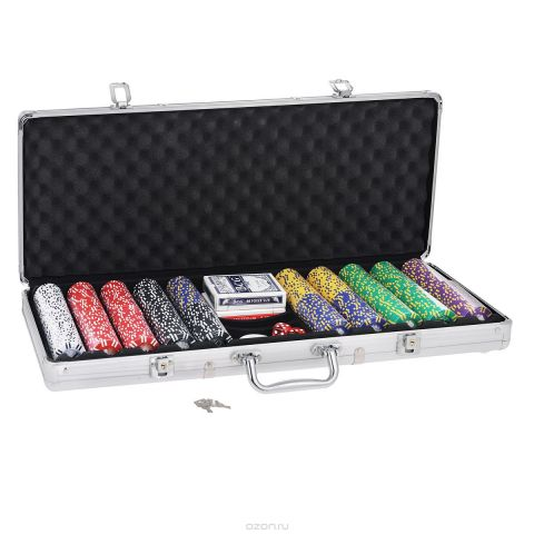 Набор для покера, размер: 60х21х8см. ГД4/500к