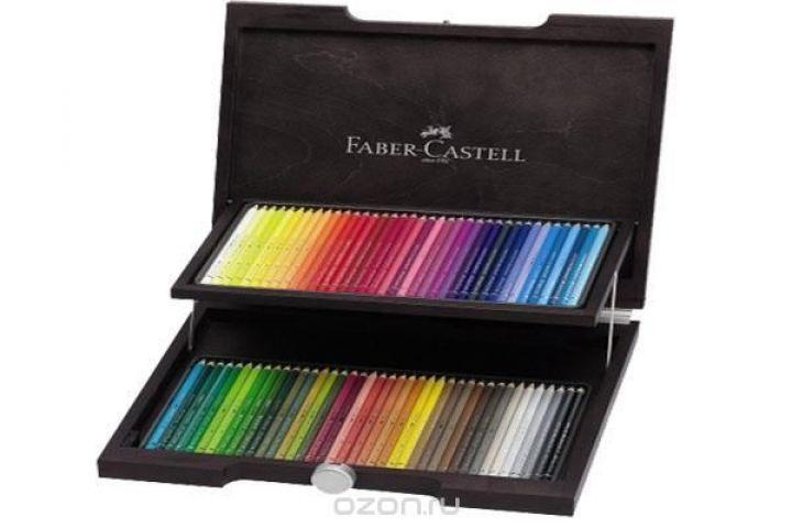 Художественный набор с акварельными карандашами ALBRECHT DURER®, набор цветов, в деревянном пенале, 72 шт.