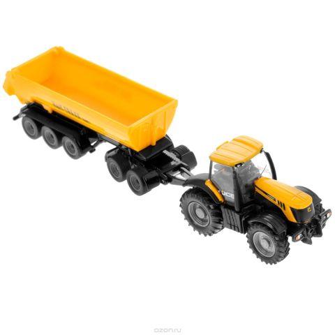 Siku Трактор JCB 8250 с прицепом-кузовом