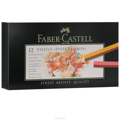 """Пастель Faber-Castell """"Polychromos"""", 12 шт"""