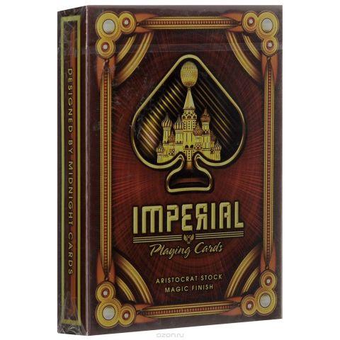 """Игральные карты Blue Crown """"Имперские карты"""", цвет: коричневый, золотой"""
