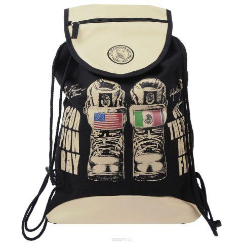"""Сумка-рюкзак для обуви """"Scorpion Bay"""", цвет: бежевый, черный"""