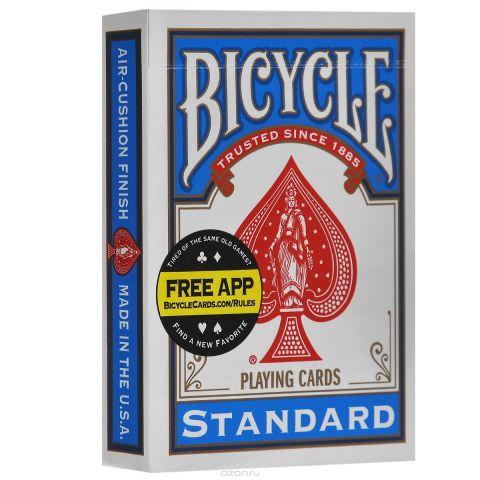 """Карты для фокусов Bicycle """"Svengali"""", цвет: синий, белый, 52 шт"""