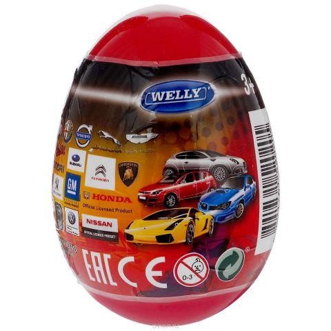 Welly Яйцо-сюрприз с машинкой цвет темно-красный