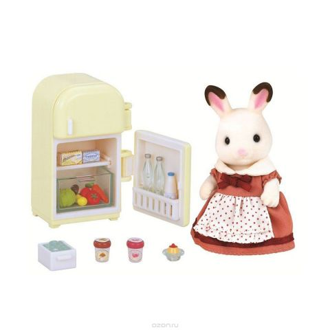 Sylvanian Families Набор фигурок Мама кролик и холодильник