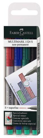 Faber-Castell Капиллярная ручка Multimark S для письма на пленке 4 цвета