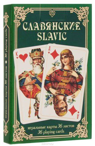 """Карты игральные Piatnik """"Славянские"""", цвет: зеленый, 36 карт"""