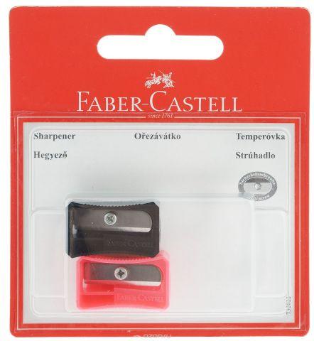 Faber-Castell Точилка цвет черный розовый 2 шт