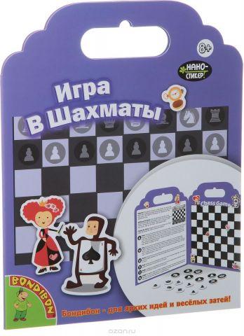 Bondibon Набор наклеек Набор нано-стикеров Игра в шахматы