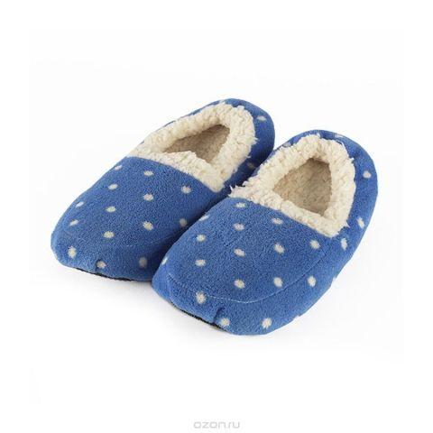 Warmies Тапочки-грелки цвет синий белый