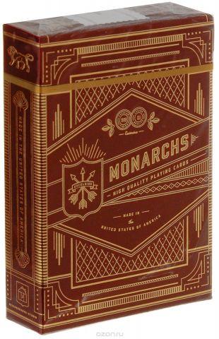 """Карты игральные Theory11 """"Monarchs"""", цвет: красный, 55 карт"""