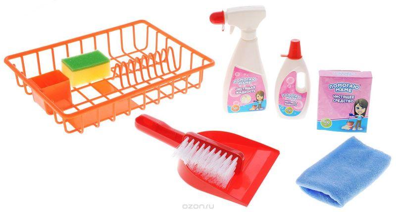 ABtoys Игровой набор Помогаю маме Генеральная уборка цвет красный