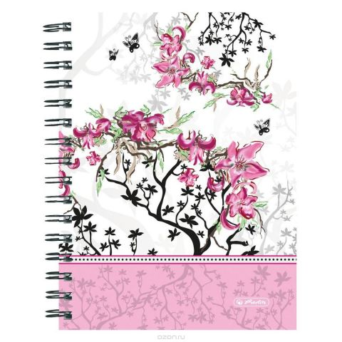 Herlitz Блокнот Ladylike Bloom 100 листов в клетку формат А5