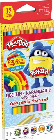 Play-Doh Набор цветных карандашей 12 цветов