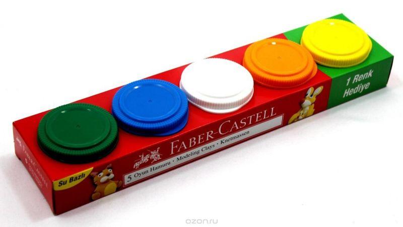 Faber-Castell Пластилин на водной основе 5 шт 225 г