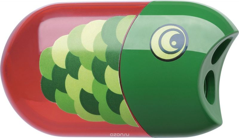Faber-Castell Точилка с контейнером и ластиком Рыбка
