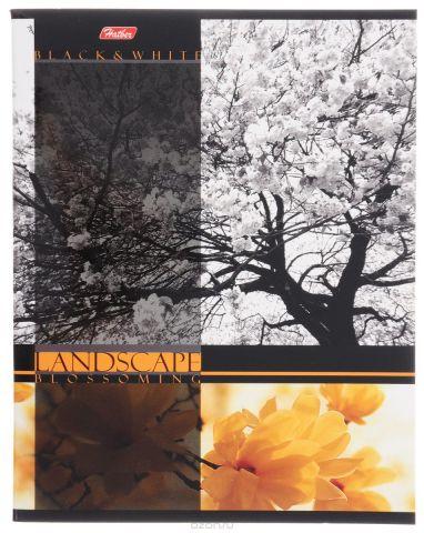Hatber Тетрадь Цветущие пейзажи 60 листов в клетку цвет желтый