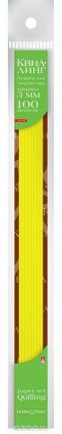 Альт Бумага для квиллинга 3 мм 100 полос цвет желтый