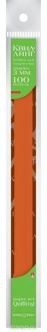 Альт Бумага для квиллинга 3 мм 100 полос цвет коричневый