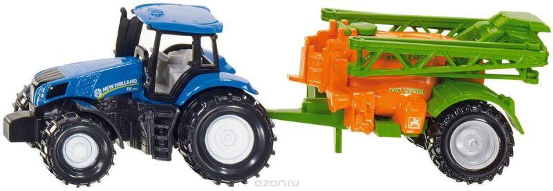 Siku Трактор New Holland с опрыскивателем