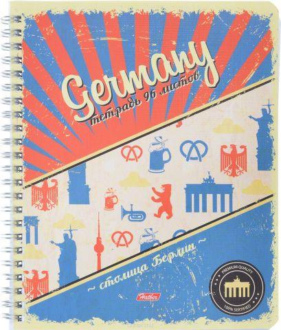 Hatber Тетрадь Germany 96 листов в клетку