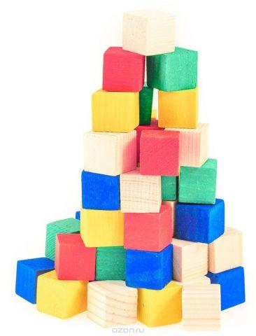 Развивающие деревянные игрушки Кубики Счетный материал Д013c