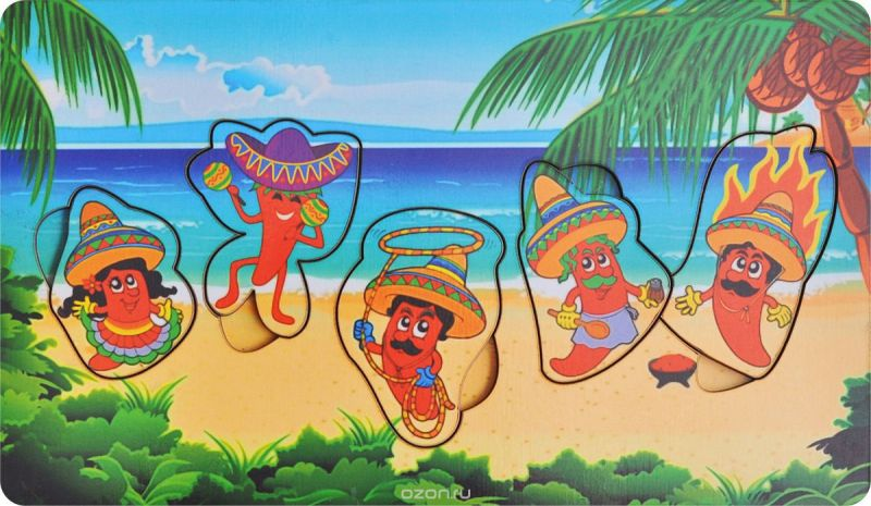 Фабрика Мастер игрушек Рамка-вкладыш Мексика