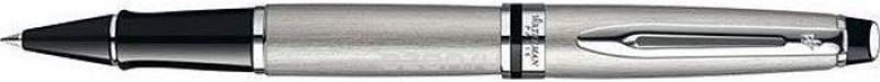 Waterman Ручка роллер Expert Stainless Steel CT черная корпус стальной