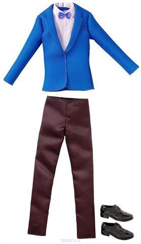 Barbie Одежда для Кена Пиджак и брюки цвет синий черный розовый