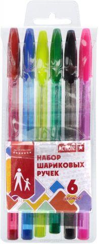 Action! Набор шариковых ручек 6 цветов ABP0601