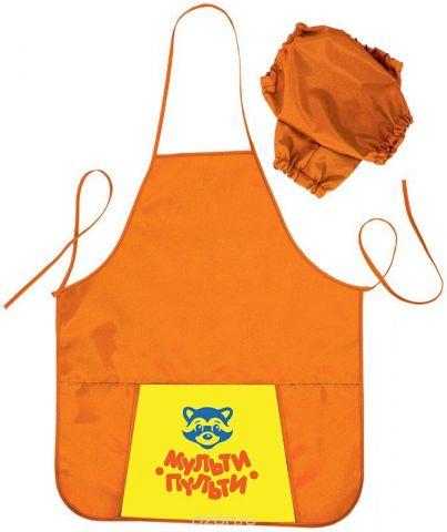 Мульти-Пульти Фартук детский с нарукавниками Приключения Енота цвет оранжевый